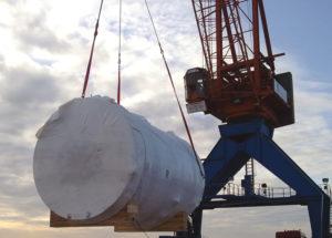 silo avec sa housse thermo rétractable